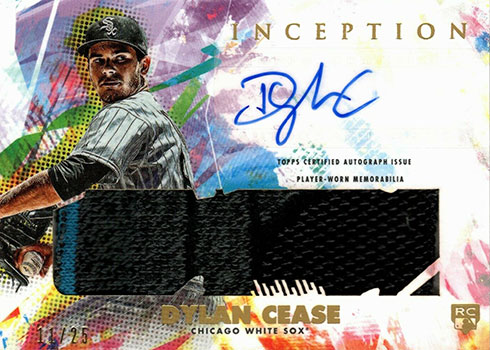 2020 Topps Inception Baseball Autograph Game Socks Dylan Cease