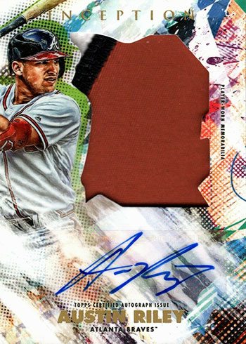 2020 Topps Inception Baseball Jumbo Patch Autograph Austin Riley