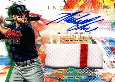 2020 Topps Inception Baseball Autograph Patch Michael Chavis