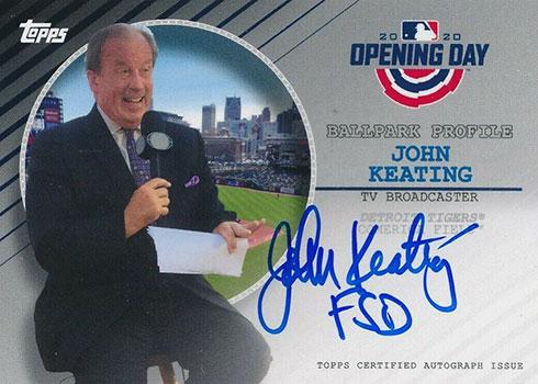 2020 Topps Opening Day Baseball Ballpark Profiles Autographs John Keating