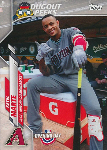 2020 Topps Opening Day Baseball Dugout Peeks Ketel Marte