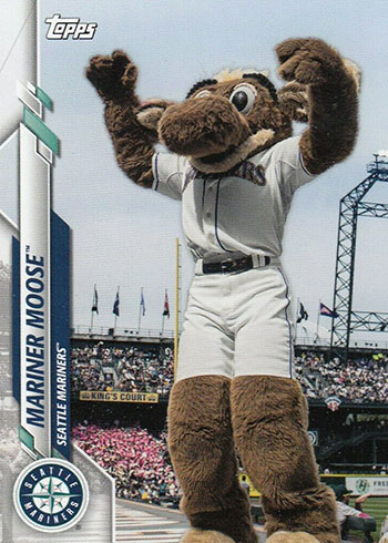 2020 Topps Opening Day Baseball Mascots Mariner Moose