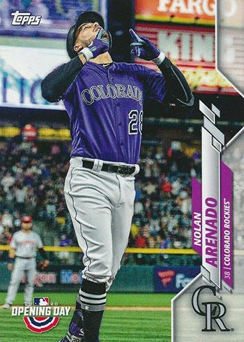 2020 Topps Opening Day Baseball Variations Nolan Arenado