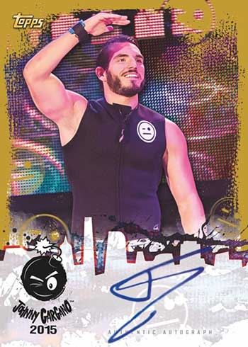 2020 Topps WWE NXT Johnny Gargano Tribute Autograph Gold