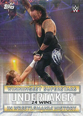 2020 Topps WWE Road to WrestleMania Winningest Superstars Undertaker