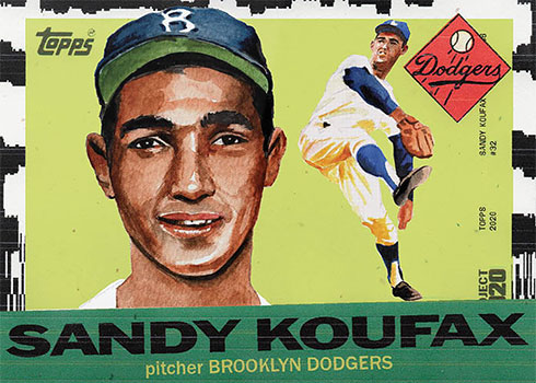Topps Project 2020 2 Sandy Koufax by Jacob Rochester