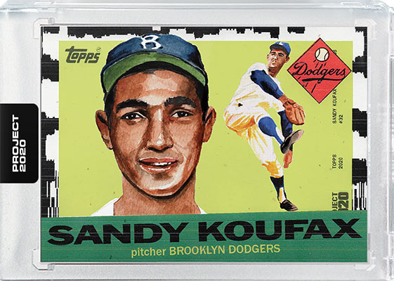 Topps Project 2020 Sandy Koufax by Jacob Rochester