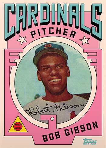 Topps Project 2020 7 Bob Gibson by Grotesk