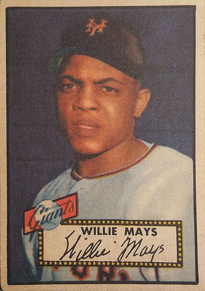 Counterfeit 1952 Topps Willie Mays