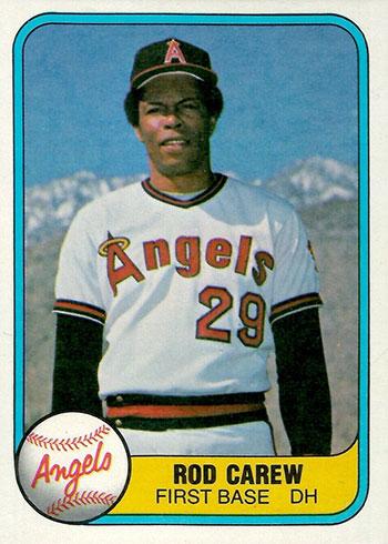 1981 Fleer Baseball Rod Carew