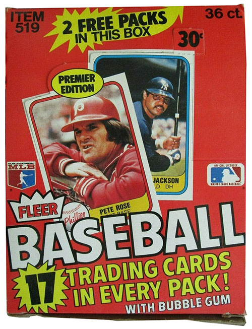 1981 Fleer Baseball Box