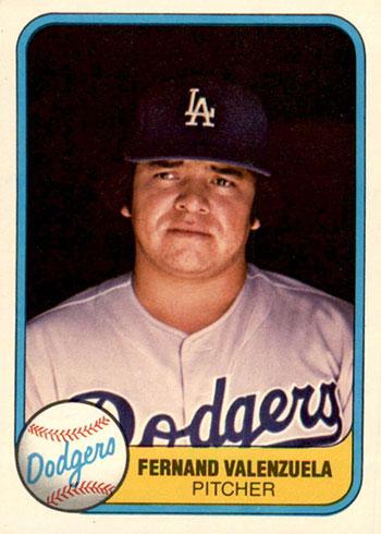 1981 Fleer Baseball Fernando Valenzuela RC UER
