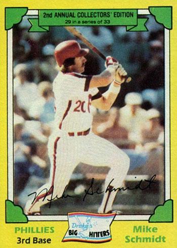 1982 Drake's Baseball Mike Schmidt