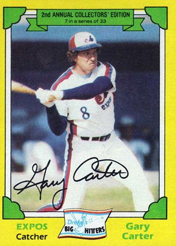 1982 Drake's Baseball Gary Carter