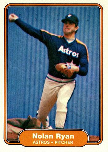 1982 Fleer Baseball Nolan Ryan