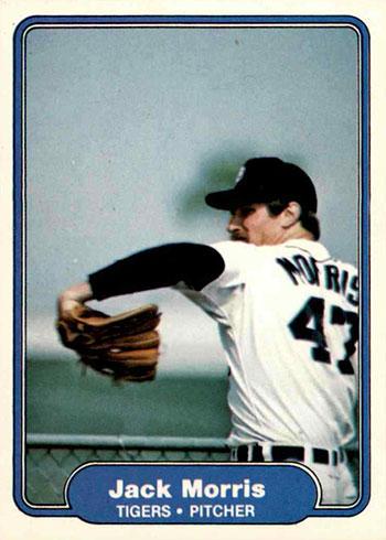 1982 Fleer Baseball Jack Morris