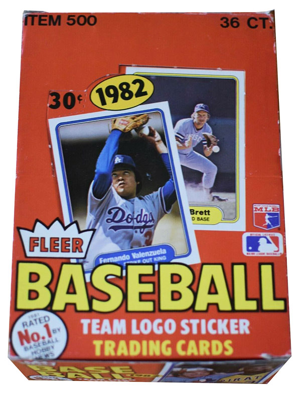 1982 Fleer Baseball Box