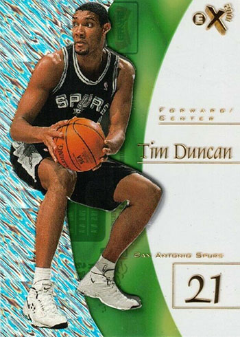 197-98 E-X2001 Tim Duncan Rookie Card