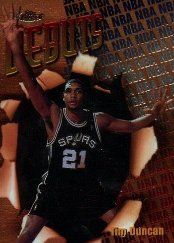 1997-98 Finest Tim Duncan Rookie Card