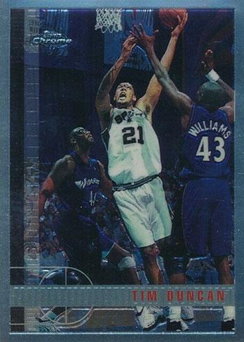 1997-98 Topps Chrome Tim Duncan Rookie Card