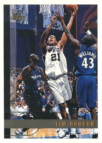 1997-98 Topps Tim Duncan Rookie Card
