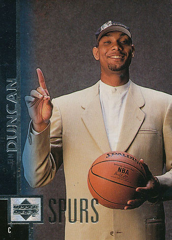1997-98 Upper Deck Tim Duncan Rookie Card