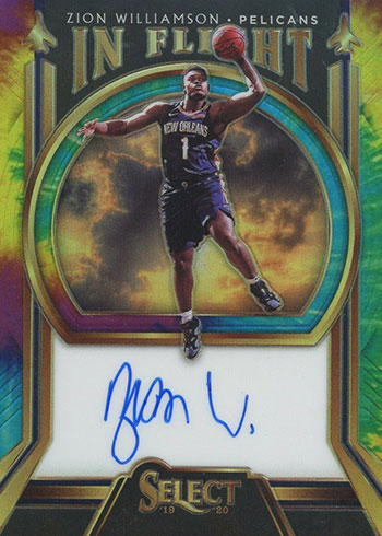 2019-20 Select Basketball In Flight Signatures Tie-Dye Zion Williamson
