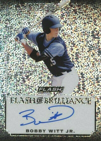 2019 Leaf Flash Baseball Flash of Brilliance Autographs Bobby Witt Jr.