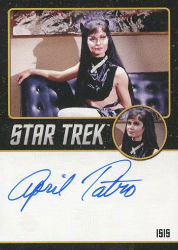 2019 Rittenhouse Star Trek Archives and Inscriptions Black Autograph April Tatro