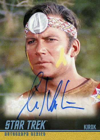 2019 Rittenhouse Star Trek Archives and Inscriptions William Shatner Autograph