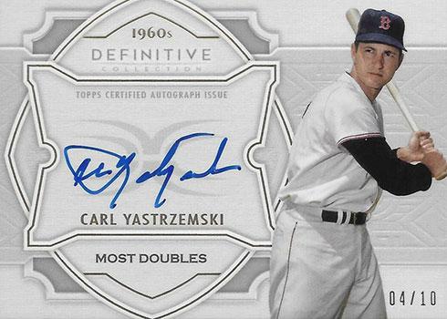 2020 Topps Definitive Collection Baseball Defining the Decade Autographs Carl Yastrzemski