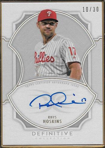 2020 Topps Definitive Collection Baseball Framed Autographs Rhys Hoskins