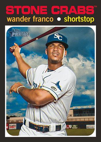 2020 Topps Heritage Minors Baseball Wander Franco