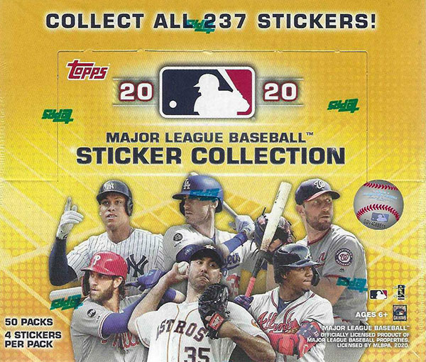 2020 Topps MLB Stickers Box