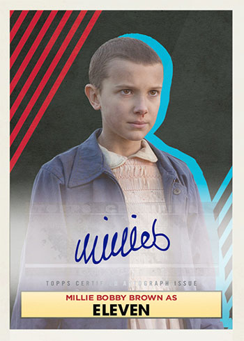 2020 Topps Stranger Things Autograph Collection Millie Bobby Brown
