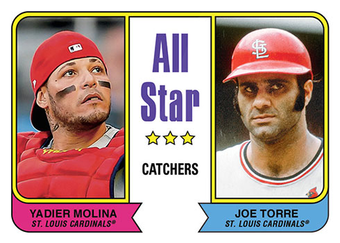 2020 Topps Throwback Thursday Baseball yadier Molina, Joe Torre