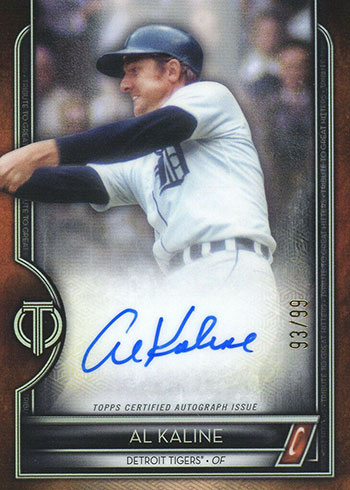 2020 Topps Tribute Baseball Tribute to Great Hitters Al Kaline