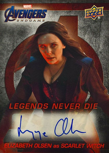 2020 Upper Deck Avengers Endgame Elizabeth Olsen Autograph
