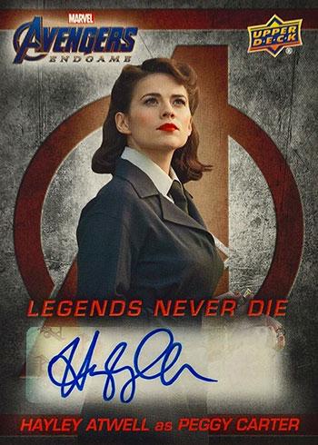2020 Upper Deck Avengers Endgame Legends Never Die Autographs Hayley Atwell