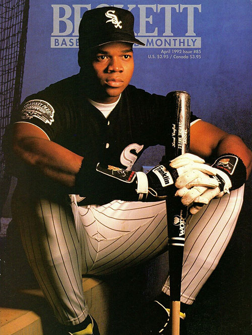 Beckett Baseball Card Monthly April 1992 Frank Thomas