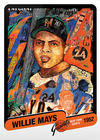 Topps Project 2020 15 Willie Mays by Andrew Thiele