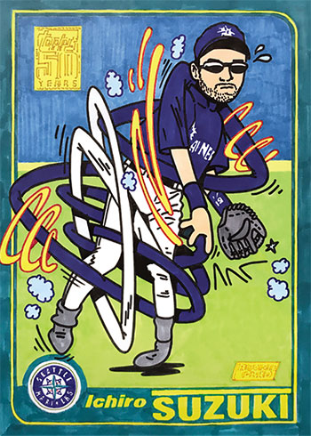 Topps Project 2020 22 Ichiro by Ermsy