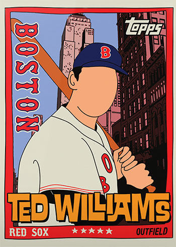 Topps Project 2020 34 Ted Williams by Fucci