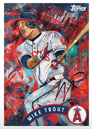 Topps Project 2020 35 Mike Trout by Andrew Thiele