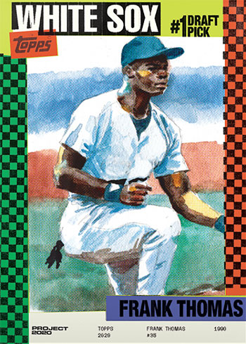 Topps Project 2020 44 Frank Thomas by Jacob Rochester