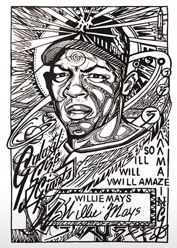 Topps Project 2020 48 Willie Mays by JK5