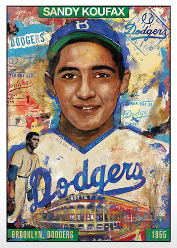 Topps Project 2020 49 Sandy Koufax by Andrew Thiele