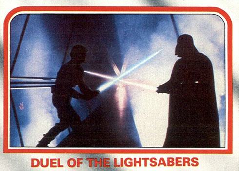 1980 Topps Empire Strikes Back 107 Duel of the Lightsabers