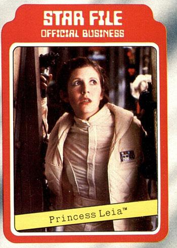1980 Topps Empire Strikes Back Star File Princess Leia