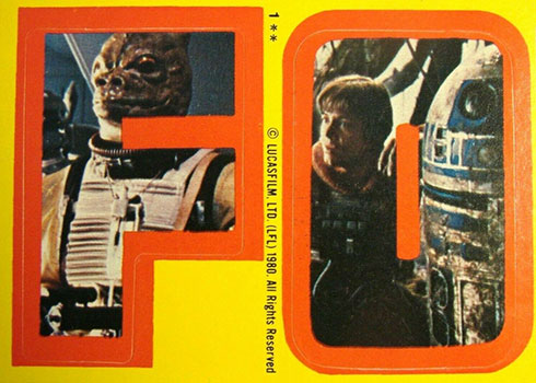 1980 Topps Empire Strikes Back Stickers 1